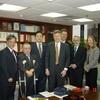 Pittsburgh University President Mark Nordenberg visited the Foundation