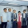 Professor  Tsun-wu Chang of Academia Sinica and his research team visited the Foundation