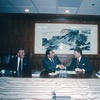 President Yih-yuan Li and President William P. Fuller of the Asia Foundation signed a letter of Understanding