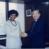 Dean Yolanda Theresa Moses of New York City College visited the Foundation
