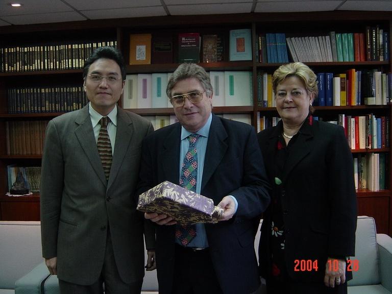 20041028法國里昂人文社會高等師範學院院長Sylvain Auroux博士伉儷來訪