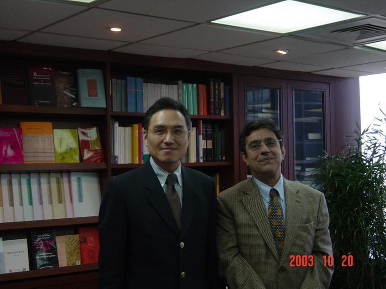 20031020歐洲漢學學會主席貝羅貝教授來訪
