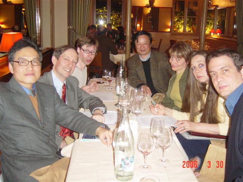 20060330朱雲漢執行長拜訪歐洲臺灣研究學會