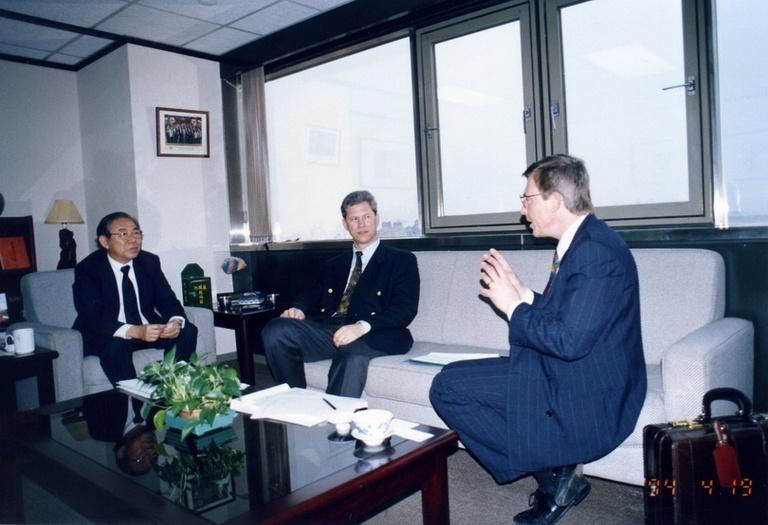 19940419歐洲科學基金會亞洲研究促進委員會主任Max Sparreboom教授與副主任Charles Svenson教授來訪